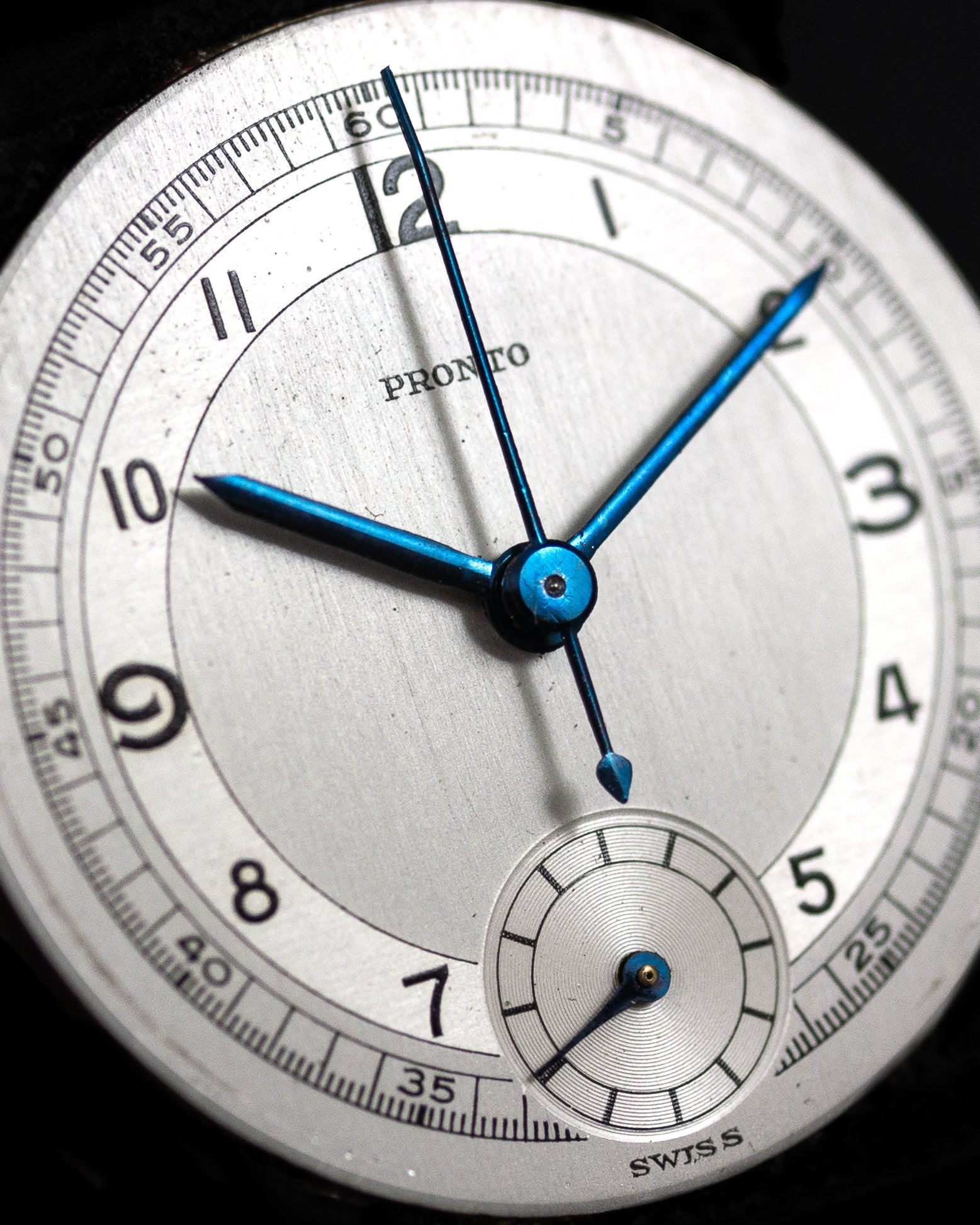 Pronto Verdal Monopusher Venus 131 NOS Sector dial Rotatable bezel