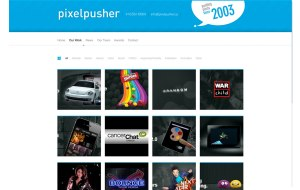 Screenshot of the Project Protfolio WordPress custom page template for Pixelpusher
