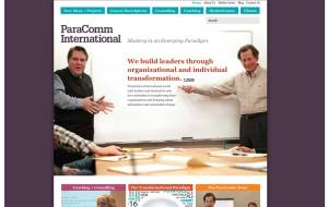 Screenshot of Paracomm WordPress CMS home page template