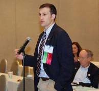 BRI Trenton Schmale speaking at ISMA conference
