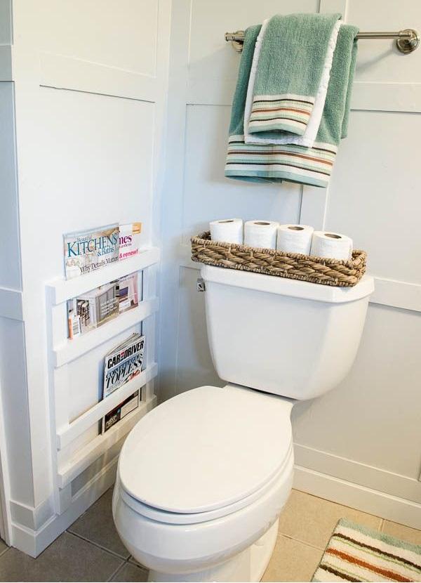 Bathroom DIY Magazine Rack