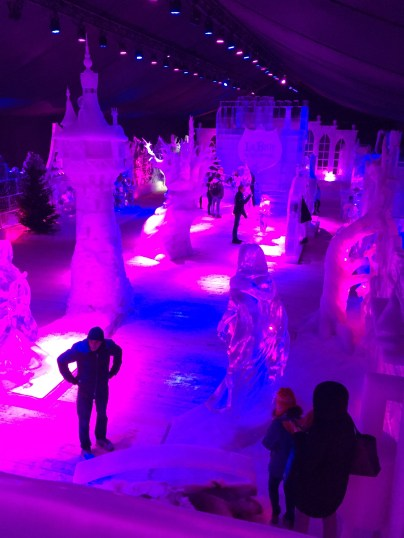 A top view of the ice sculptures.
