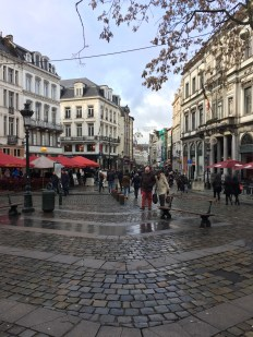 Walking through the streets of Brussels.