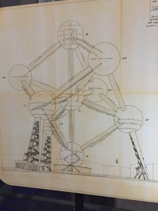 Original sketches of the Atomium.