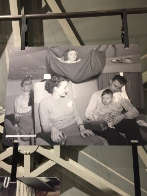 They used to have hammocks for little kids on Belgian Airlines.