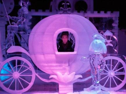 I'm inside Cinderella's coach.