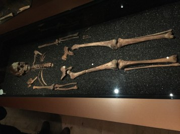 One of the skeletons found inside the ship.