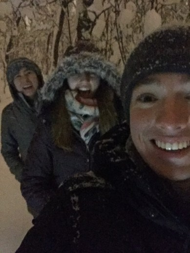 We are cold and wet, but loving all of this snow!