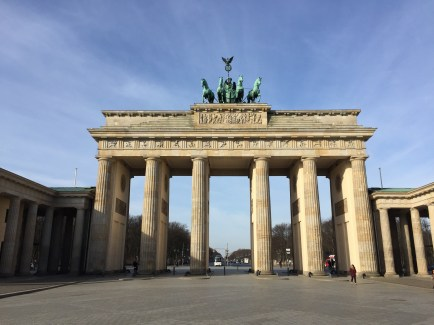 The Brandenburg Gate was a symbol of Berlin and German division during the Cold War. Now, it is a national symbol of peace and unity.