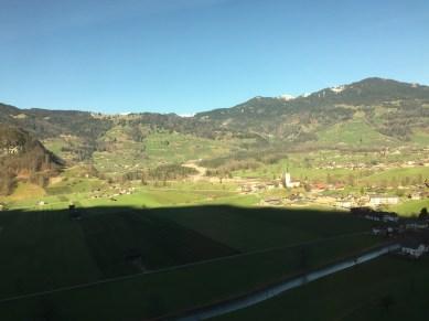 Day 2: Off to Interlake Switzerland. Pretty views from the train ride.