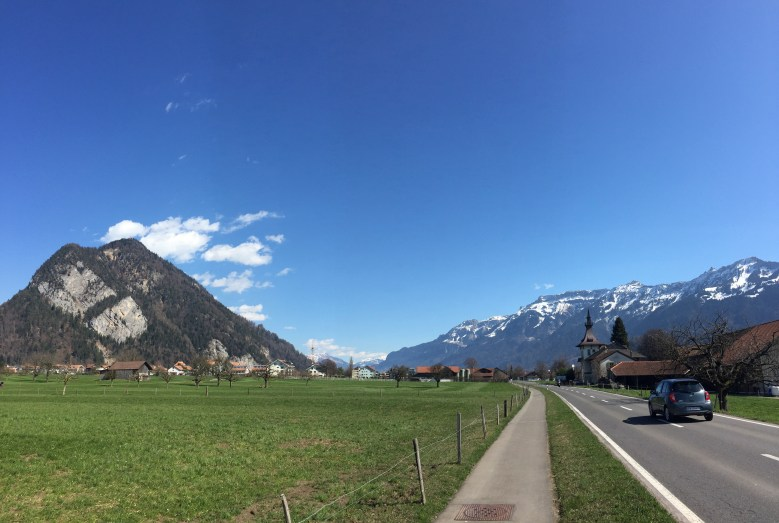 Headed back to the town of Interlaken.