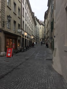 Walking through the old part of the city