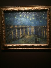 We got lucky and were able to see Starry Night by Van gogh!
