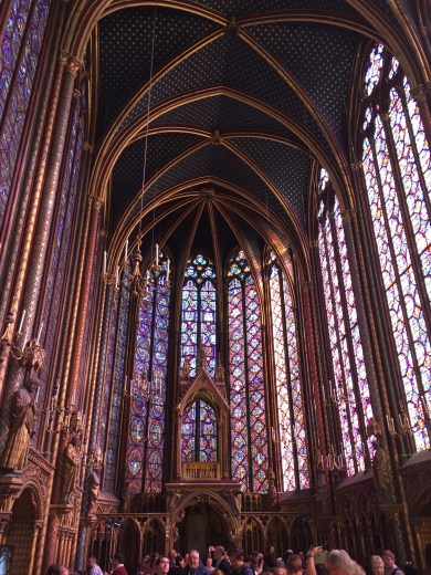 I forget the name of this cathedral, but it was covered with amazing stain glass windows.