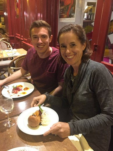 Our last night in Paris. Mathias (Virgil's father) treated us to an AMAZING 6 course meal.
