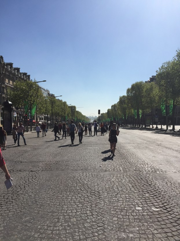 Because of the race, the Champs de Lessay was blocked off to cars. So we can an amazing opportunity to walk down it.