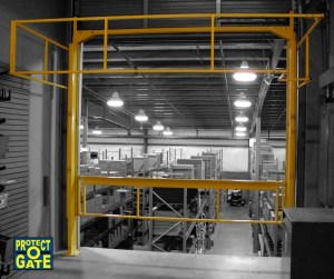The Protect-O-Gate 'Clear Aisle' Mezzanine Safety Gate