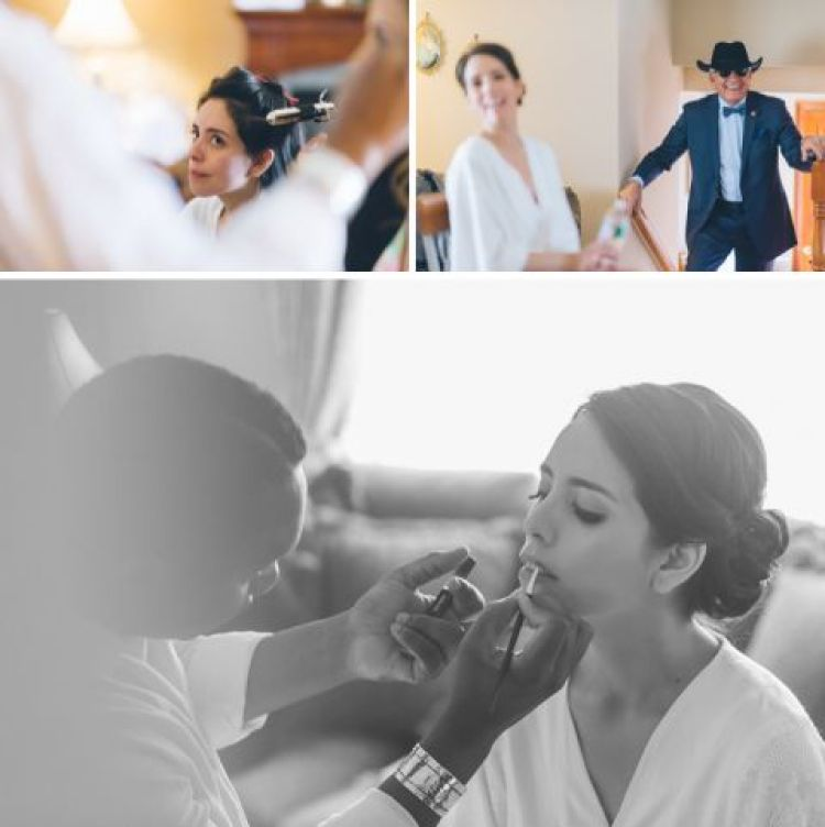 Bride preps for her Mayfair Farms wedding in West Orange, NJ, captured by Northern NJ wedding photographer Ben Lau.