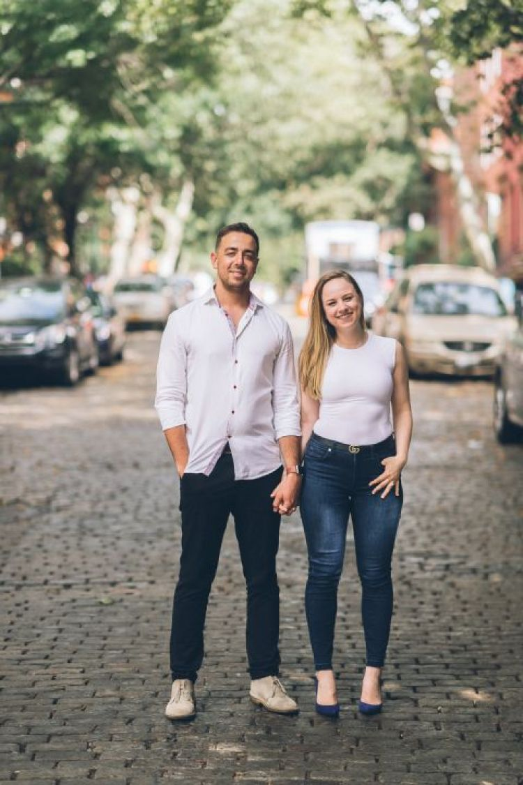 Brooklyn Engagement Session captured by fun, photojournalistic NYC wedding photographer Ben Lau.