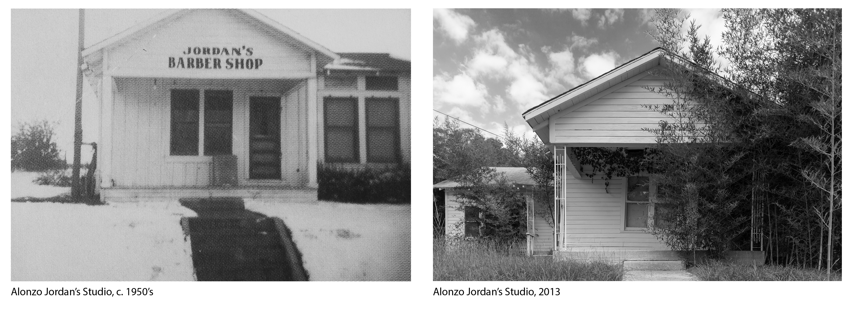 Alonzo Jordan's Studio, 1950c and 2013