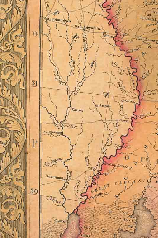 Jasper Map Detail From 1820 Drawing
