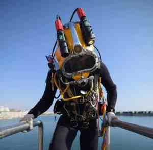 ROV inspectie met een duiker van duikbedrijf benl