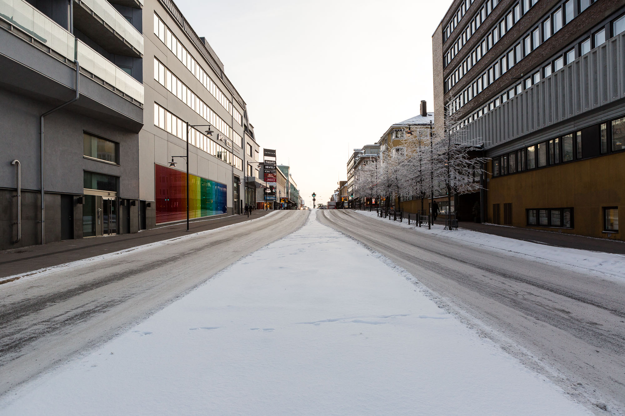 High street, Luleå, Sweden January 2017, Ben Lee Photography