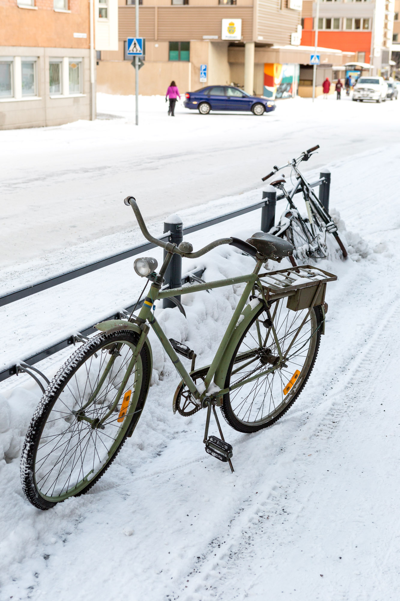 Bicycle, Luleå, Sweden January 2017, Ben Lee Photography