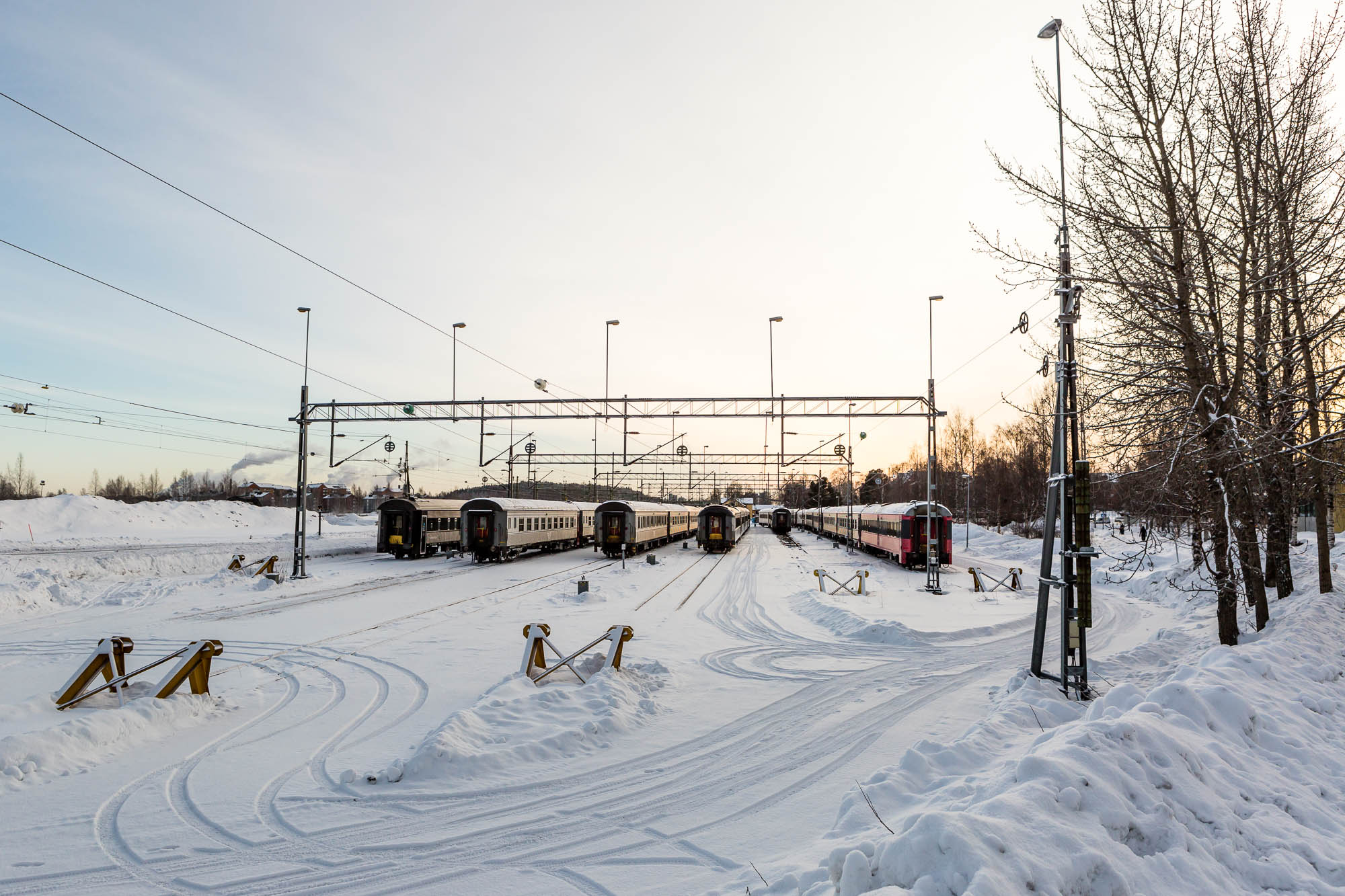 Train yard, Luleå, Sweden January 2017, Ben Lee Photography