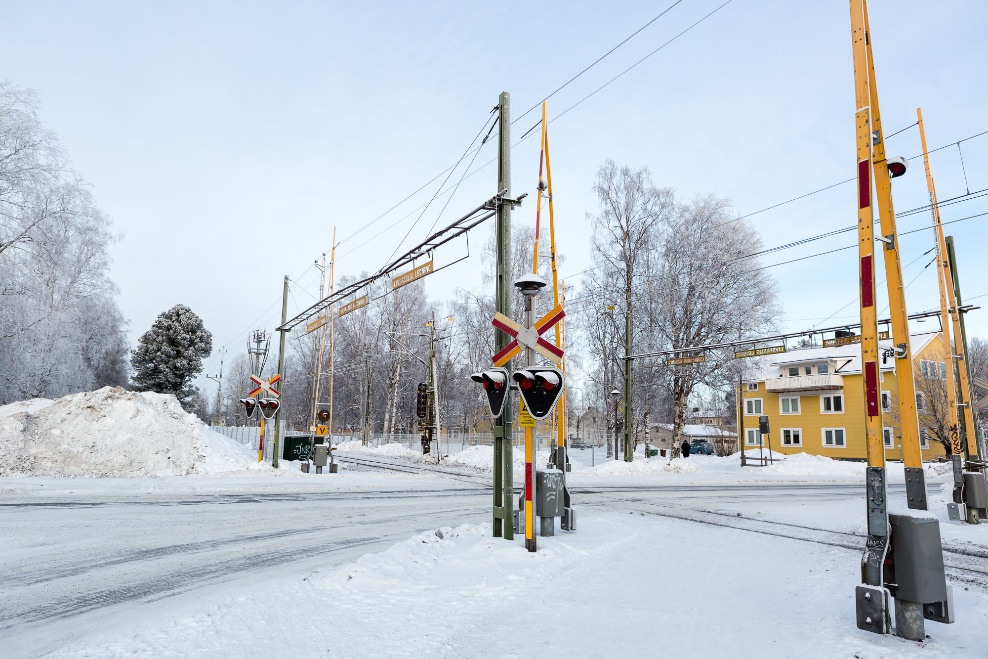 Level crossing, Luleå, Sweden January 2017, Ben Lee Photography