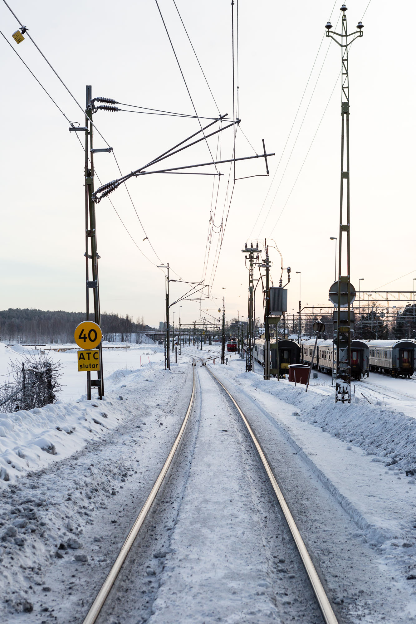 Train track, Luleå, Sweden January 2017, Ben Lee Photography