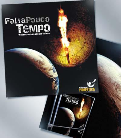 Design de capa de cd Ministério Restauração Profética - Falta Pouco Tempo ( Escola de fogo)
