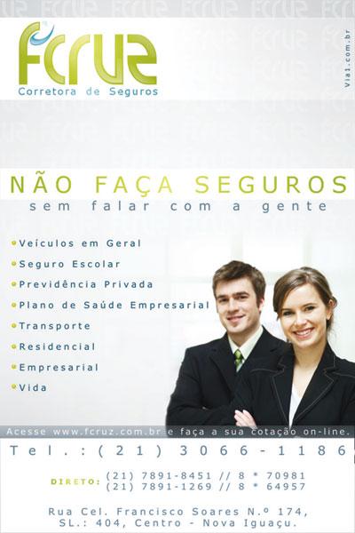 f-cruz corretora de seguros - Agencia via1 de comunicação. design anunciopublicidade