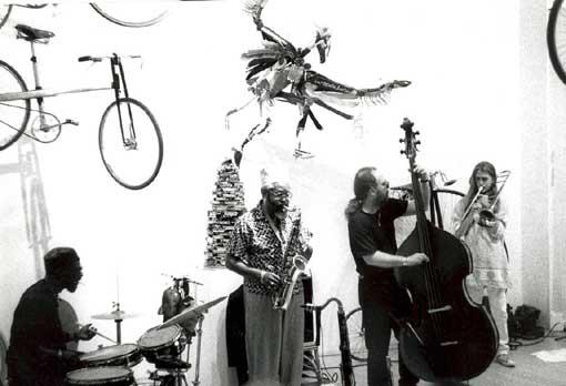 Spirit, Oluyemi, Ben and Esten at Berkeley Store Gallery | 1993