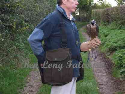 leather hawking vest