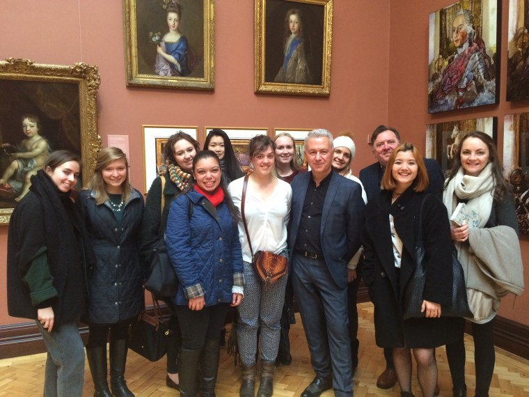 The Post-War Scottish Art class with Calum Colvin (centre)