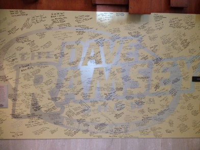Dave Ramsey's Debt Free Wall of Victory