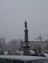 Snow Storm in Ballaston Spa, NY