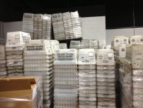 A Mountain of Mail buckets at the Mailhouse