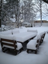 The Picnic table is in there somewhere.