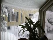 Kitchen window iced over