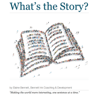 Available only in Elaine's business bookshop: What's the Story? an e-book about story-telling