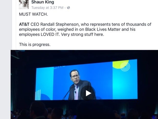 Great speech from Randall Stephenson, CEO of AT&T