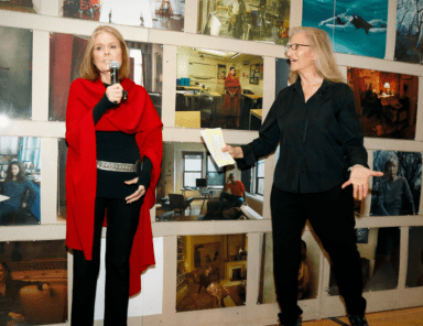 Gloria Steinem & Annie Leibovitz at an earlier gallery talk