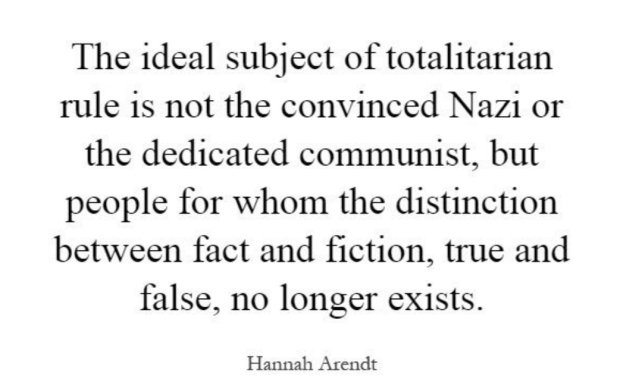 Hannah Arendt offers a warning fit for the Trump Era