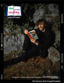 Neil Gaiman promotes reading fiction