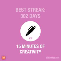 writing streak: 302 days — problem solved