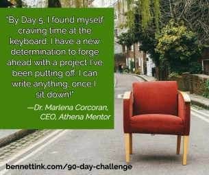 "By day 5 I found myself craving time at the keyboard."" - Dr. Marlena Corcoran"