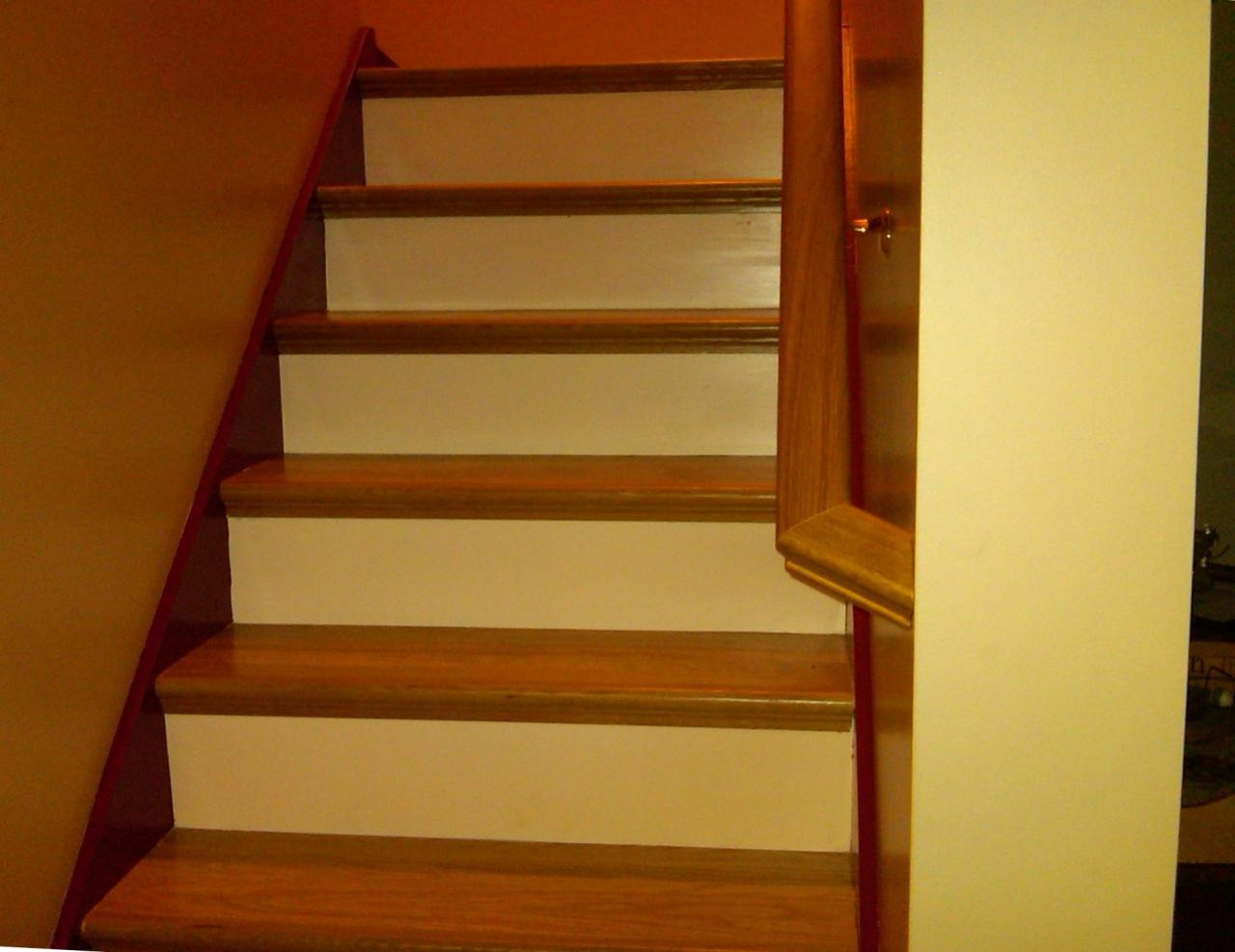 Bennett Stair Company Inc Remodels Nustair Installations | Oak Stairs With White Risers | Natural | Red Oak | Character | Hardwood | Dark Walnut Staircase