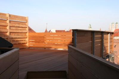 Dachterrasse in Bankirai